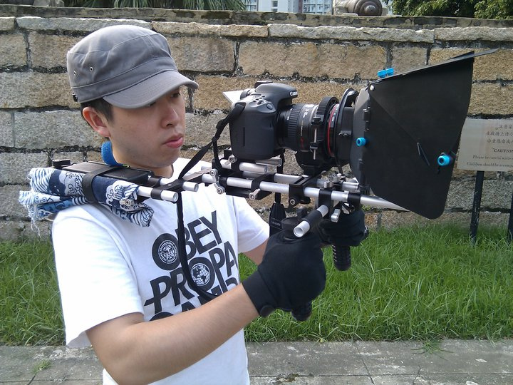 A DSLR shoulder rig